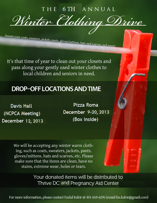 Winter Clothing Drive Flyer 2013